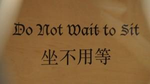 Sign inside chinese restaurant